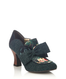 Astrid deep green bow ankle boots