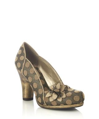 32bc777d6285 Charlie gold polka dot court heels Sale - ruby shoo Sale