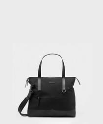 moustache cotton & canvas messenger bag