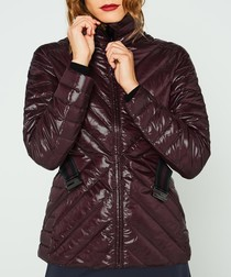 Aubergine quilt down jacket