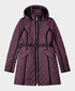Burgundy nylon quilted trench coat Sale - hunter Sale
