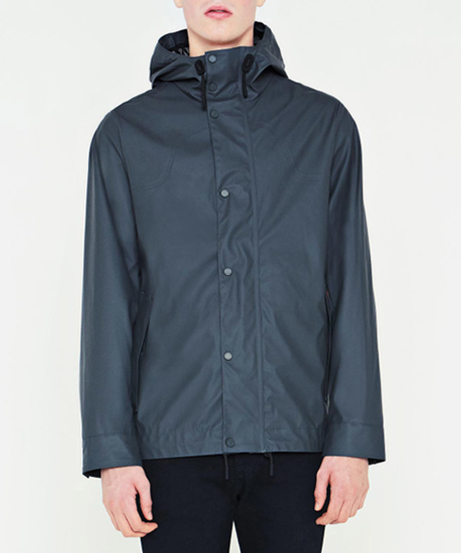Pewter rubberised button coat Sale - hunter
