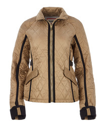 Reed nylon quilted trench jacket