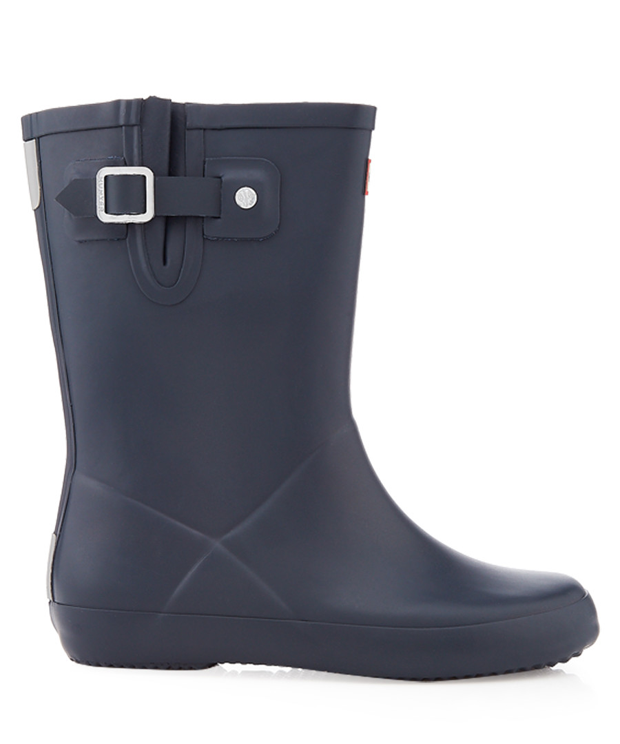 Kids' navy flat sole Wellington boots Sale - hunter