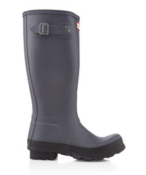 Men's charcoal rubber wellingtons
