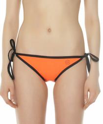 Orange tie bikini bottoms