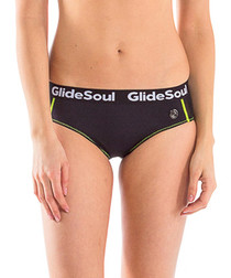 Black logo bikini bottoms