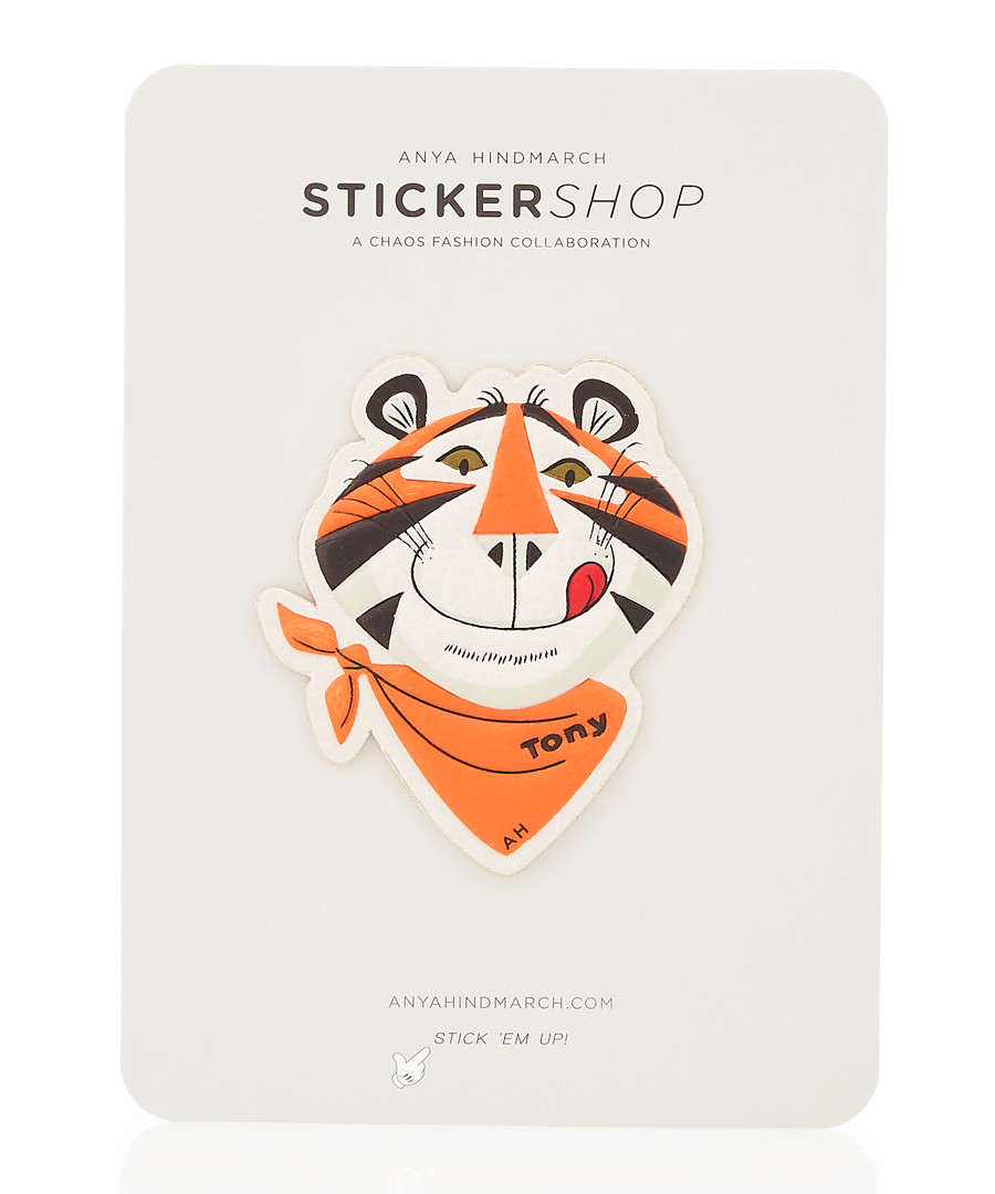 Frosties chalk leather sticker Sale - anya hindmarch
