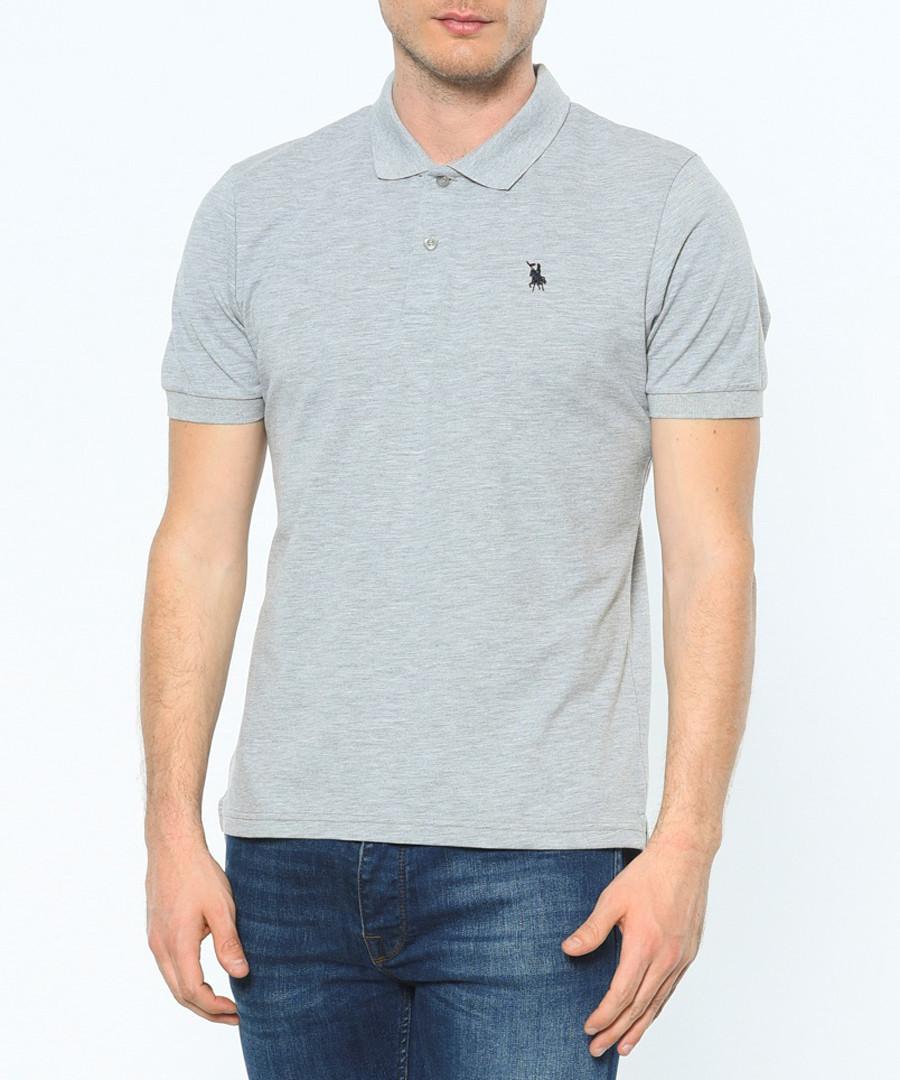 Grey cotton blend polo shirt Sale - Dewberry