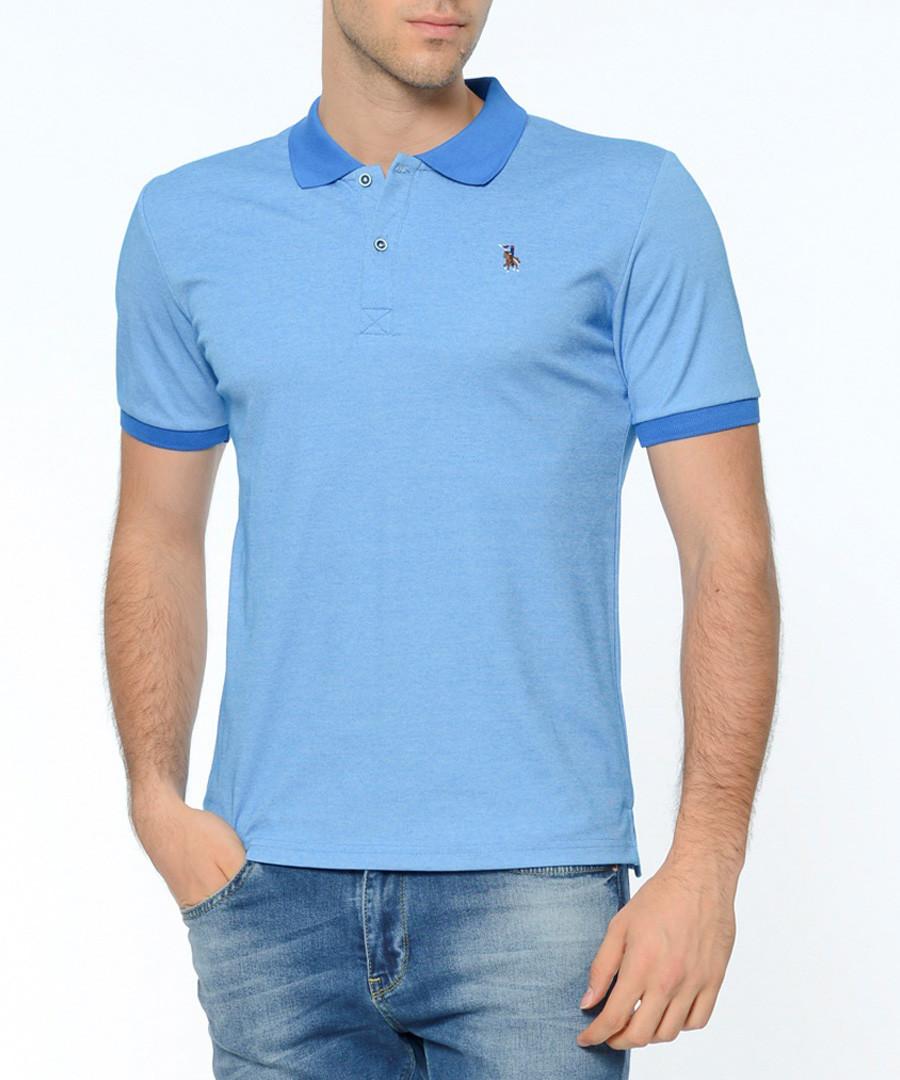 Sax cotton blend contrast polo shirt Sale - Dewberry
