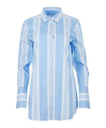 Arlette powder blue & white cotton shirt
