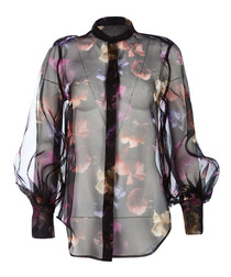 Boleyn sheer floral relaxed top