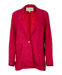 Hampton crimson scatter blazer