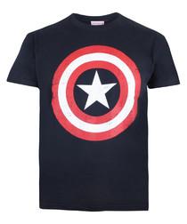 Kids' Shield navy cotton T-shirt