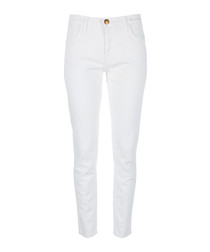 The Fling white slim boyfriend jeans