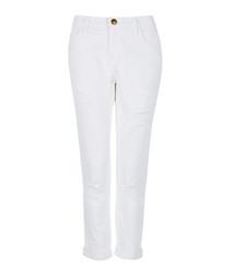 The Fling white slim jeans
