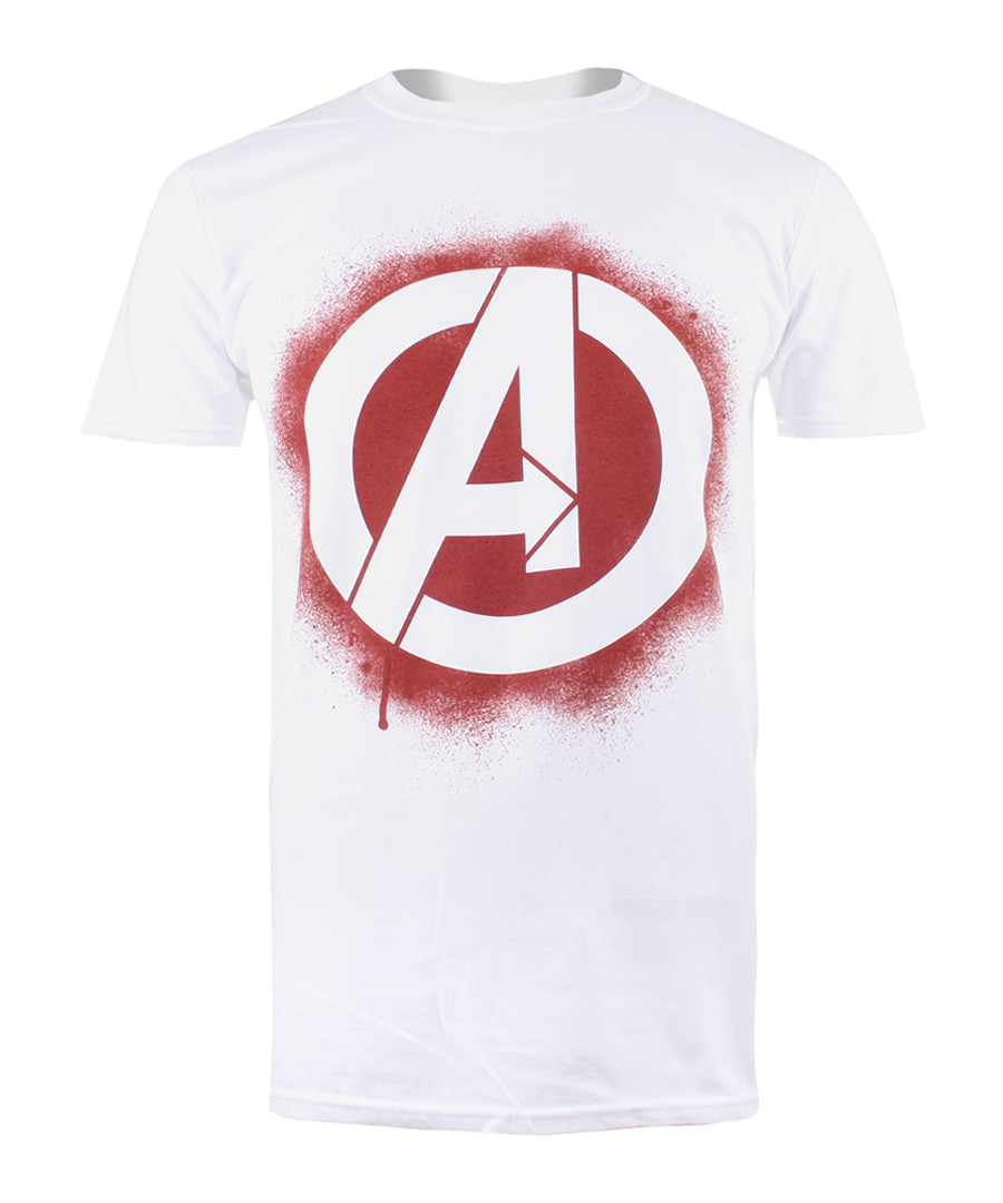 STENCIL LOGO pure cotton T-SHIRT Sale - marvel