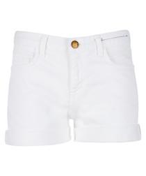 The Boyfriend white rolled shorts