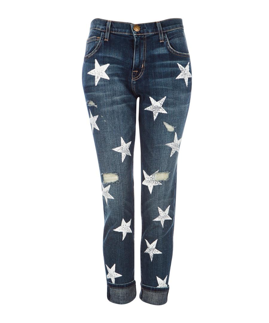 The Fling blue star boyfriend jeans Sale - Current Elliott