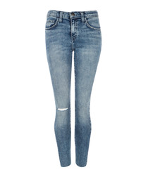 The High Waist Stiletto blue slim jeans