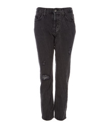 The Original Straight black cropped jeans