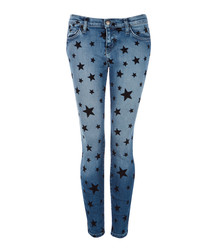 The Stiletto Flocked star slim jeans