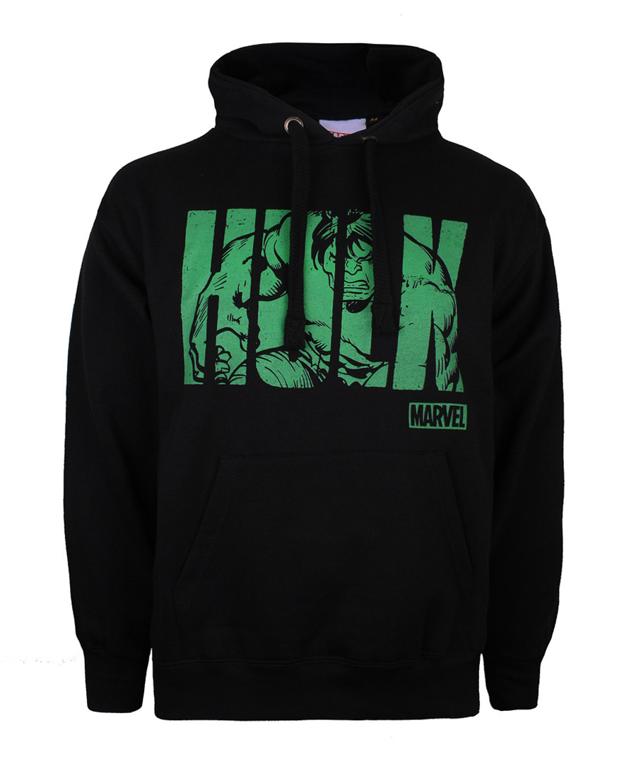HULK black cotton blend hoodie Sale - marvel