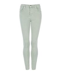 The High Waist Stiletto green slim jeans