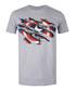 Men's Torn Shield grey heather T-shirt Sale - marvel Sale
