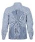 The Des Stripe blue lagoon shirt Sale - Current Elliott Sale
