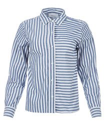 The Des Stripe blue lagoon shirt