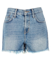 The 'His' cut-off blue shorts