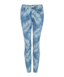 The Stiletto leaf print skinny jeans