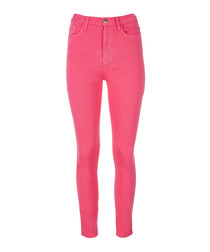 The Ultra High-waisted pink slim jeans