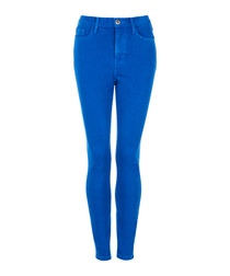 The Ultra High Waist blue jeans