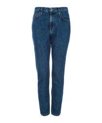 The Vintage cropped blue jeans