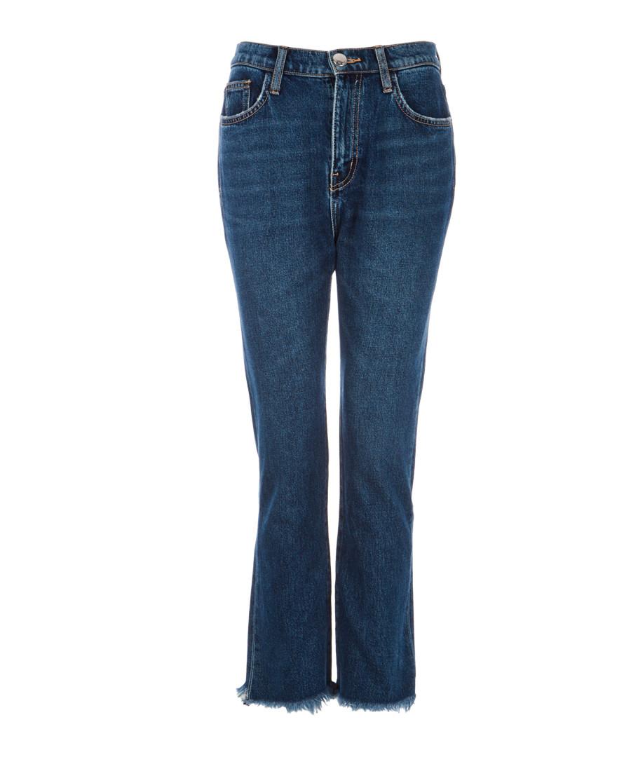 The High Waist blue kick cropped jeans Sale - Current Elliott