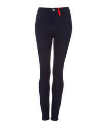 The Ultra High Waist black skinny jeans