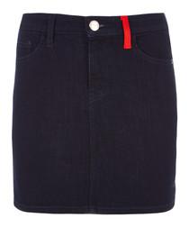 The 5 Pocket dark mini skirt