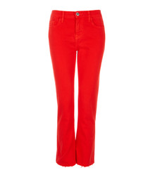 The Kick red skinny jeans
