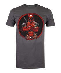 Men's Deadpool charcoal T-shirt