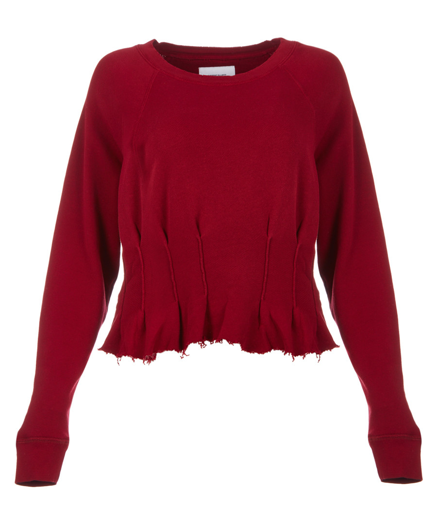 The Pintucked red jumper Sale - current elliot