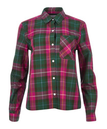 The Ivie plaid green & pink shirt