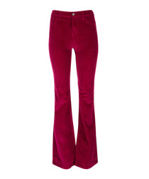The Jarvis wild aster flared trousers