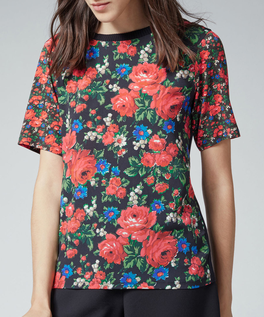 Lupita floral woven tee Sale - warehouse