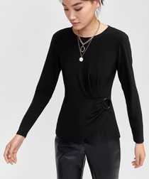 O Ring black slinky top
