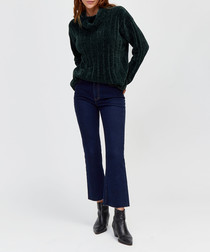 Racing green high neck jumper