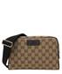 Beige & brown canvas waist bag Sale - gucci Sale