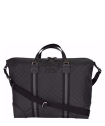 Black nylon weekend bag