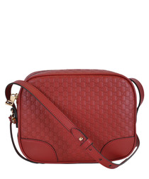 Guccissima red leather camera bag